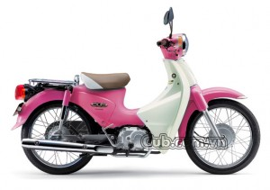 Xe máy cub 81 màu hồng
