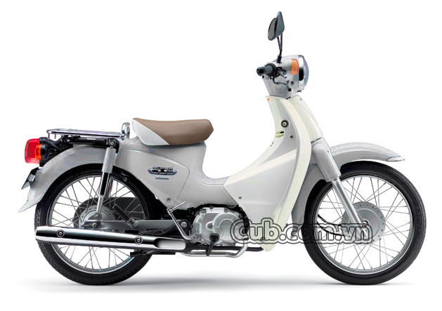 Xe máy cub 81 màu trắng