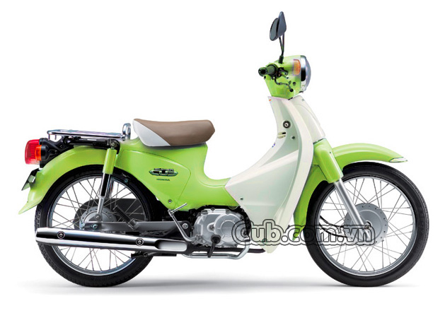 Xe máy cub 81 màu xanh cốm