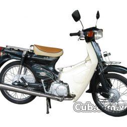 Xe máy cub 82 màu xanh rêu