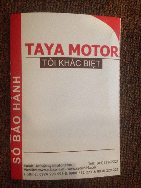 Sổ bảo hành xe máy tại Taya Motor