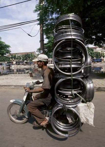 Xe cub để chở hàng hóa