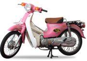 xe cub 81 taya màu hồng